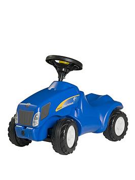 rolly-toys-new-holland-tvt155-mini-tractor-with-opening-bonnet