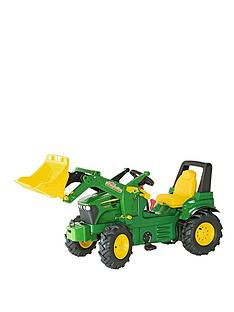 rolly-toys-john-deere-7930-tractor-and-loader-with-pneumatic-tyres-brake-and-gears