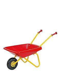 rolly-toys-metal-and-plastic-wheelbarrow-redyellow