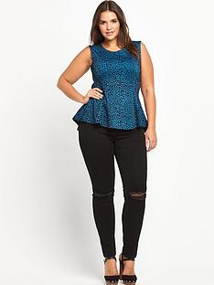 so-fabulous-animal-flock-print-dipped-back-peplum-top
