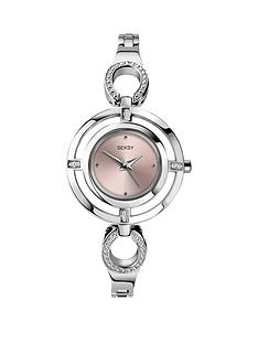 seksy-pink-dial-crystal-set-silver-tone