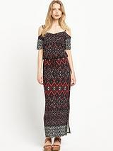 South Cold Shoulder Maxi Dress