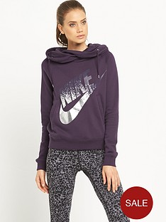nike-rally-metallic-print-hooded-top