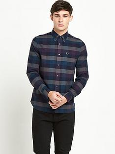 fred-perry-gingham-long-sleevenbspcheck-shirt