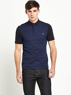 fred-perry-mixed-fabric-mens-polo-shirt