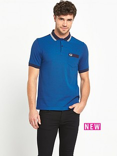 fred-perry-gingham-trimnbspmens-polo-shirt