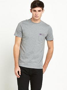 fred-perry-gingham-trim-polka-dot-mens-t-shirt