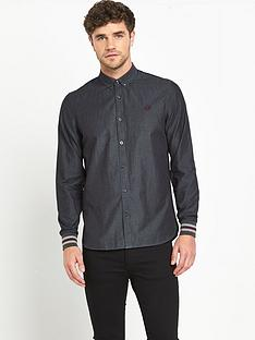 fred-perry-chambray-mixed-cuff-mens-shirt