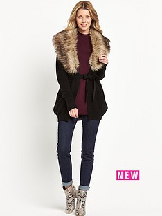 south-faux-fur-collar-cardigan