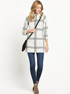 v-by-very-mono-checked-jacquard-tunic-jumper