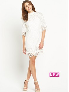 river-island-lace-turtle-neck-shift-dress