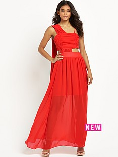 ppq-cream-label-draped-cut-out-maxi-dress-red