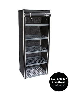5-shelf-canvas-storage-unit-black