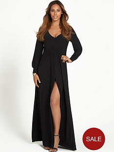 rochelle-humes-long-sleeve-maxi-dress