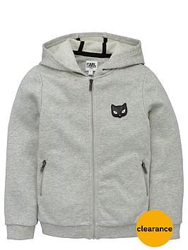 karl-lagerfeld-girls-choupettenbspzip-through-hoodie