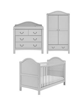 East Coast Toulouse Cot Bed, Dresser and Wardrobe, One Colour|
