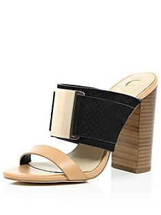 river-island-double-strap-wood-heel-mule