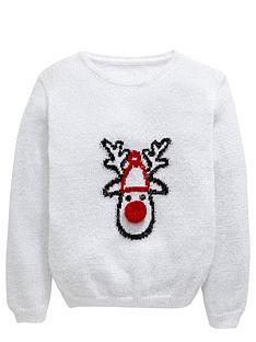 freespirit-girls-reindeer-eyelash-jumper-with-pom-pom