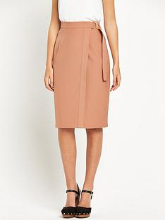 miss-selfridge-miss-selfridge-nude-belted-wrap-pencil-skirt