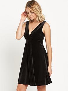 miss-selfridge-velvet-babydoll-dress