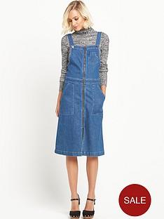miss-selfridge-zip-through-midi-pinny-dress