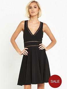 miss-selfridge-lattice-skater-dress