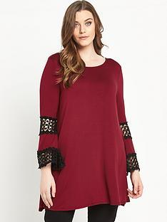 so-fabulous-crochet-trim-sleeve-swing-tunic-top