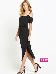 south-jersey-cold-shoulder-midi-dressbr-br