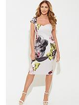 Scuba Printed Bodycon Dress