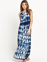 Tie Dye Beach Maxi Dress
