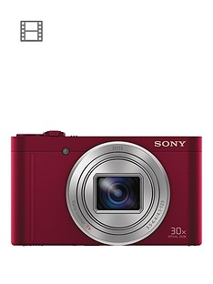 sony-cybershot-dsc-wx500-182-mp-30x-zoom-digital-compact-camera-with-selfie-screen-red