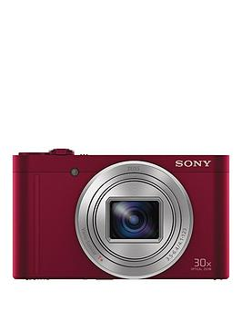 Sony Cybershot Dsc Wx500 18.2 Mp 30X Zoom Digital Compact Camera With Selfie Screen - Red
