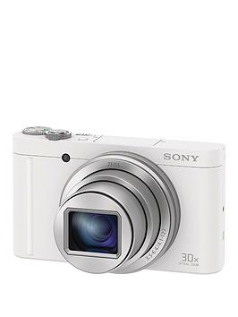 Sony Cybershot Dsc Wx500 18.2 Mp 30X Zoom Digital Compact Camera With Selfie Screen - White