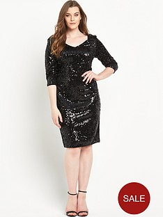 so-fabulous-all-over-sequin-v-neck-dressnbsp