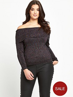so-fabulous-plus-size-metallic-yarn-bardot-jumper-14-28