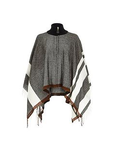 river-island-zip-neck-blanket-cape