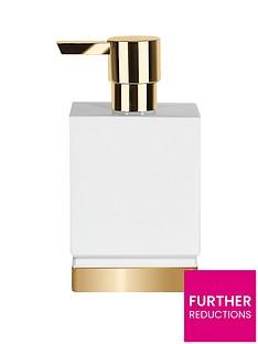 spirella-roma-soap-dispenser-in-white-and-gold