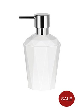spirella-spirella-crystal-white-soap-dispenser