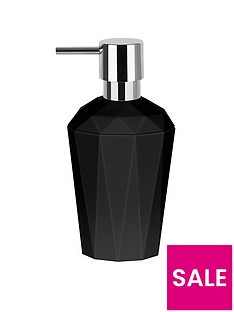 spirella crystal black soap dispenser