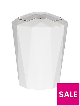 spirella-crystal-5-litre-bin-in-white