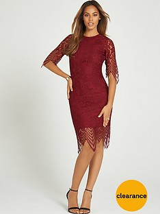 rochelle-humes-eyelash-lace-midi-dress