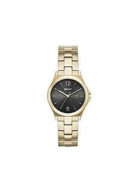 dkny-parsons-black-dial-gold-tone-stainl