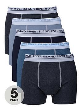 river-island-five-pack-blue-classic-trunks