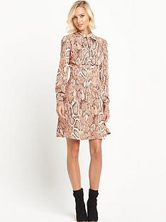 river-island-river-island-printed-pussybow-dress