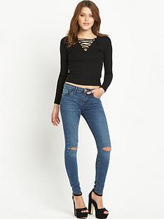 river-island-lace-up-plunge-top