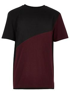 river-island-boys-berry-grindlenbspwith-black-spliced-t-shirt