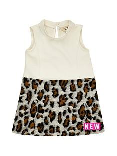river-island-mini-mini-girls-cream-leopard-print-dress