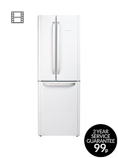 Hotpoint Day 1 FFU3DW American Style,70cmWide, Frost-Free Fridge Freezer, A+ Energy Rating - White