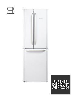 Hotpoint Day1 FFU3DW American Style, 70cm Wide, Frost-Free Fridge Freezer, A+ Energy Rating - White Best Price, Cheapest Prices