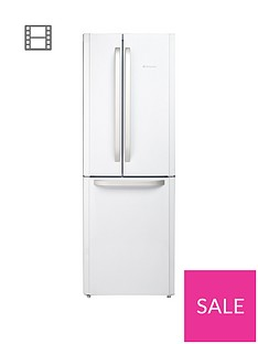 Hotpoint Day1 FFU3DW American Style, 70cm Wide, Frost-Free Fridge Freezer, A+ Energy Rating - White